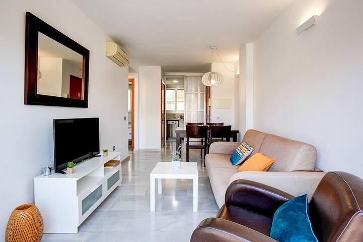 Apartamento moderno a un paso de la playa y centro