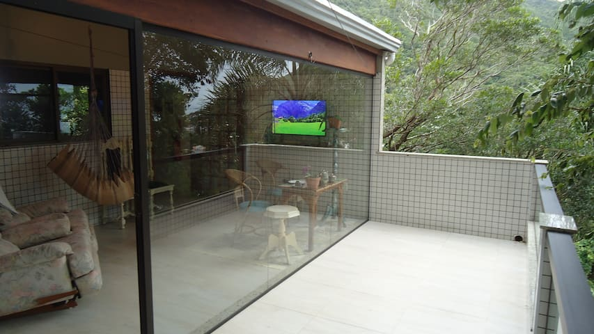 Balcony and living room Sacada e sala de estrar