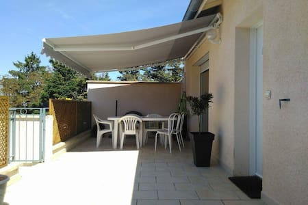 Appartement 90m2 + 30m2 terrasse + 50m2 jardin - Jaillans