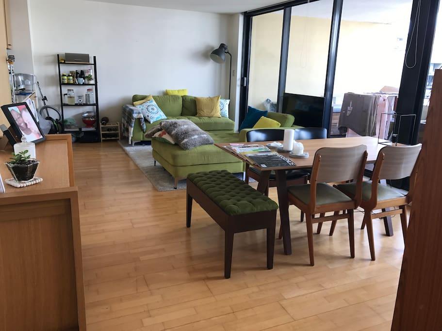 Living area when you enter our home