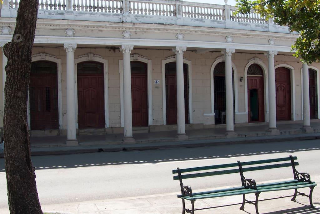 Vista desde el Prado de Cienfuegos