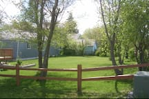 Back Yard with Split Rail Fence