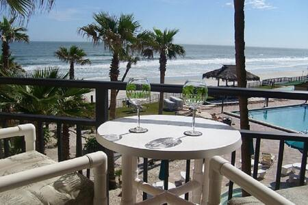 Great Ocean View overlooks pool - Daytona Beach Shores