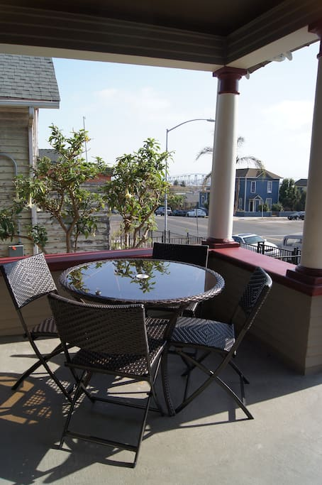 Enjoy a Morning Coffee with Views of  the Bay and Coronado Island.