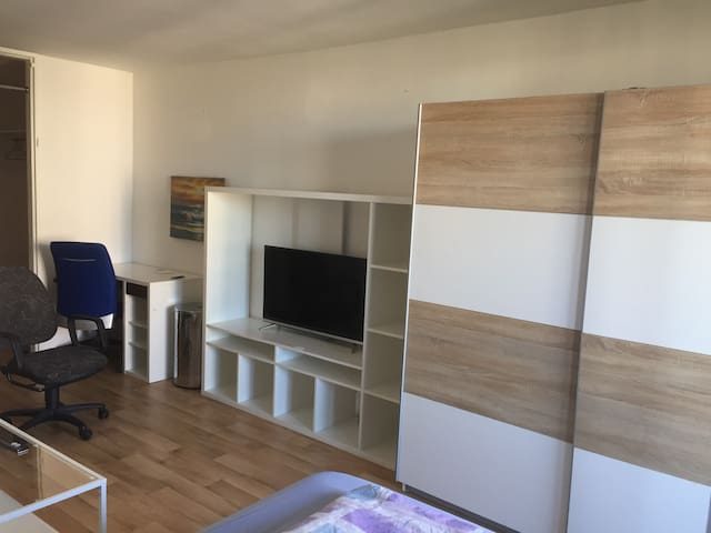 Appartement Balkon Küche Bad wifi TV 30 qm