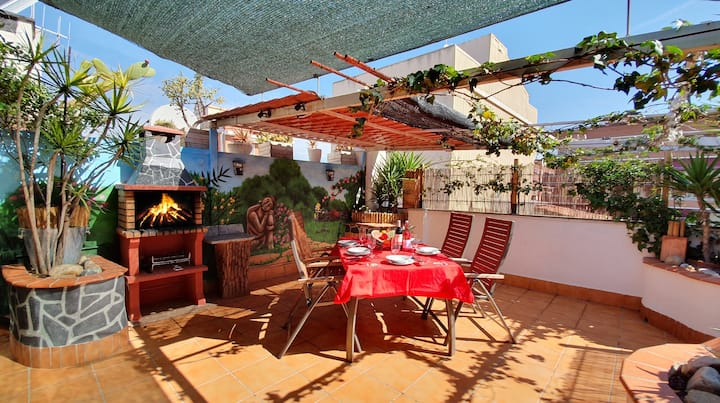 Modern Penthouse & Terrace BBQ Airport-Barcelona R