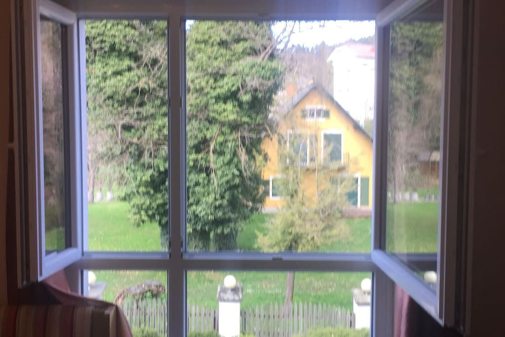 View from the bed in bedroom