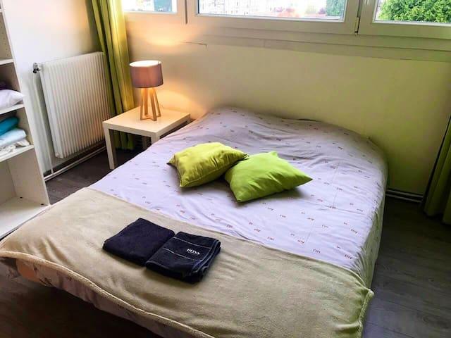 Chambre confortable dans grand appartement de 80m2