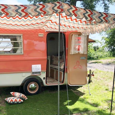 Taffy, a fully restored, tiny, vintage Camper