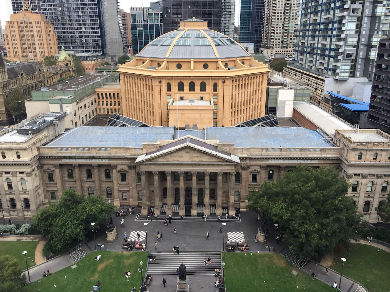 View of John Monash's Dome on the State Library