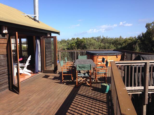 Massive north facing deck for summer evenings