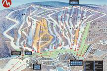 Camelback Ski Map,Houses location is to the right by Trail #13