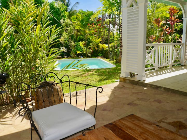 Belle propriété créole, piscine&jardin privés