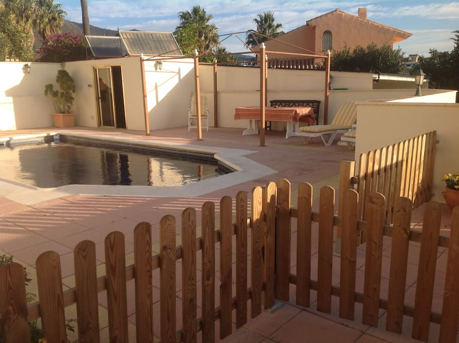 Gate pool is ideal for families with young children.