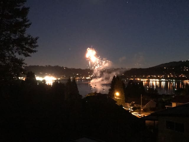 view fireworks from home on Canada's birthday. 5-star hotel view!