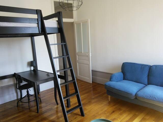 Appartement T1 de caractère calme en hyper centre