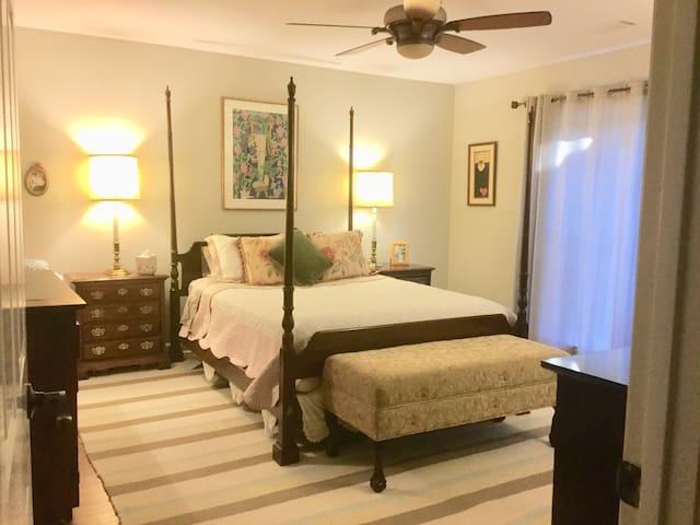 Large Bedroom with En Suite Bath in Remodeled Home