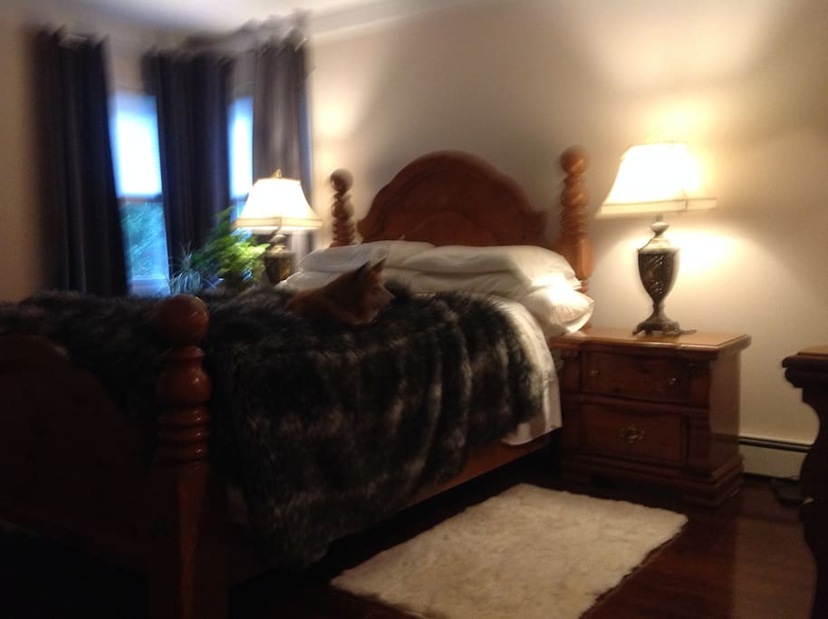 Master bedroom, with queen bed.