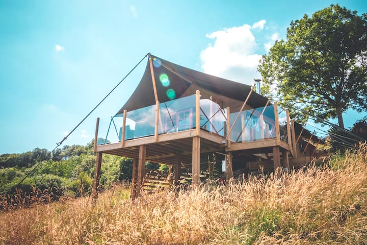 Safari Tent at Pennard Hill Farm