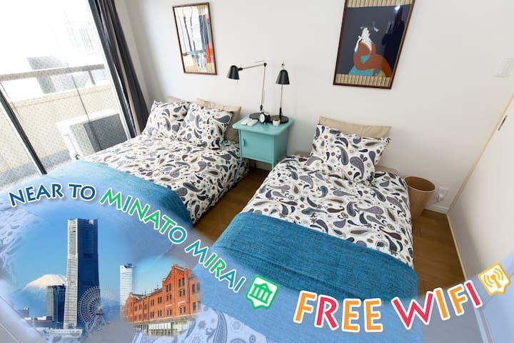 2BR 2min STA Easy→Yokohama Sta WiFi - 横浜市西区 - Apartment