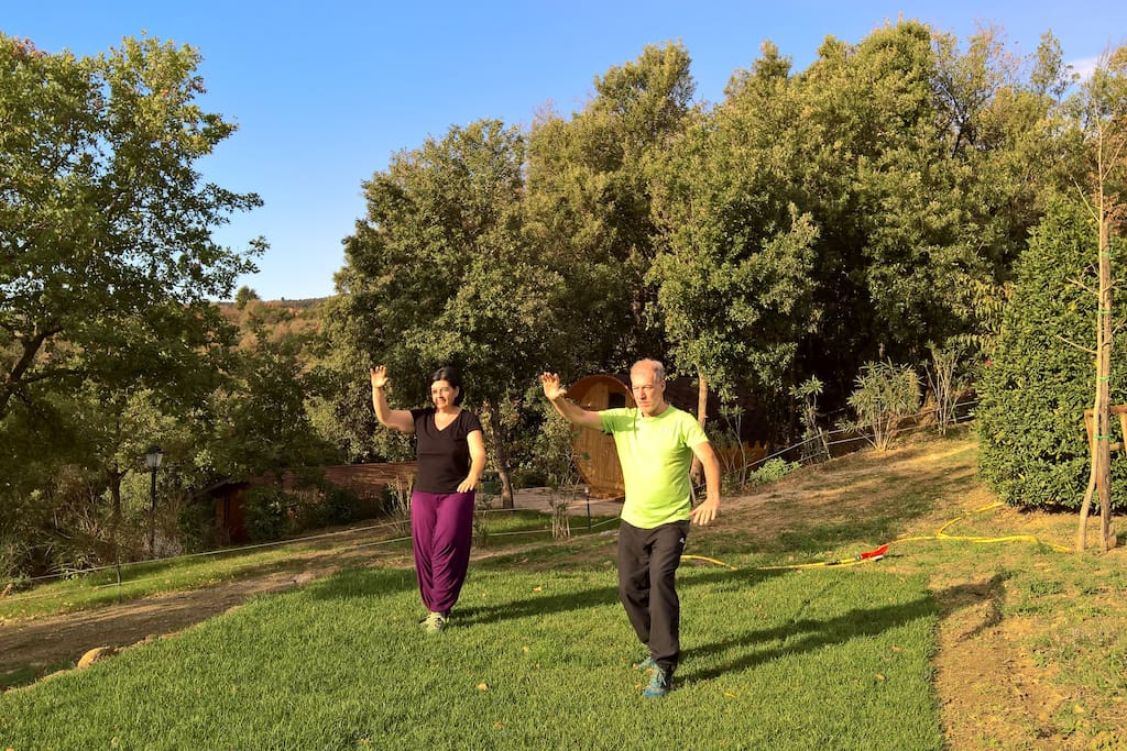 Welcome to Godiola where outdoor life is an exceptional and unusual surprise, try Tai chi in the early morning sun!