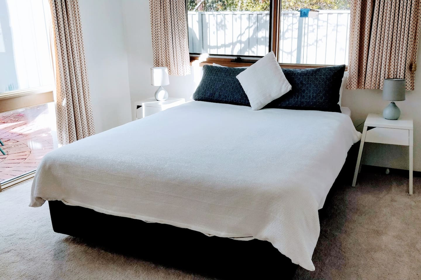 your bed with 100% cotton bed linen, the option of high or medium profile pillows and your own private bathroom with shower, bathtub and separate toilet