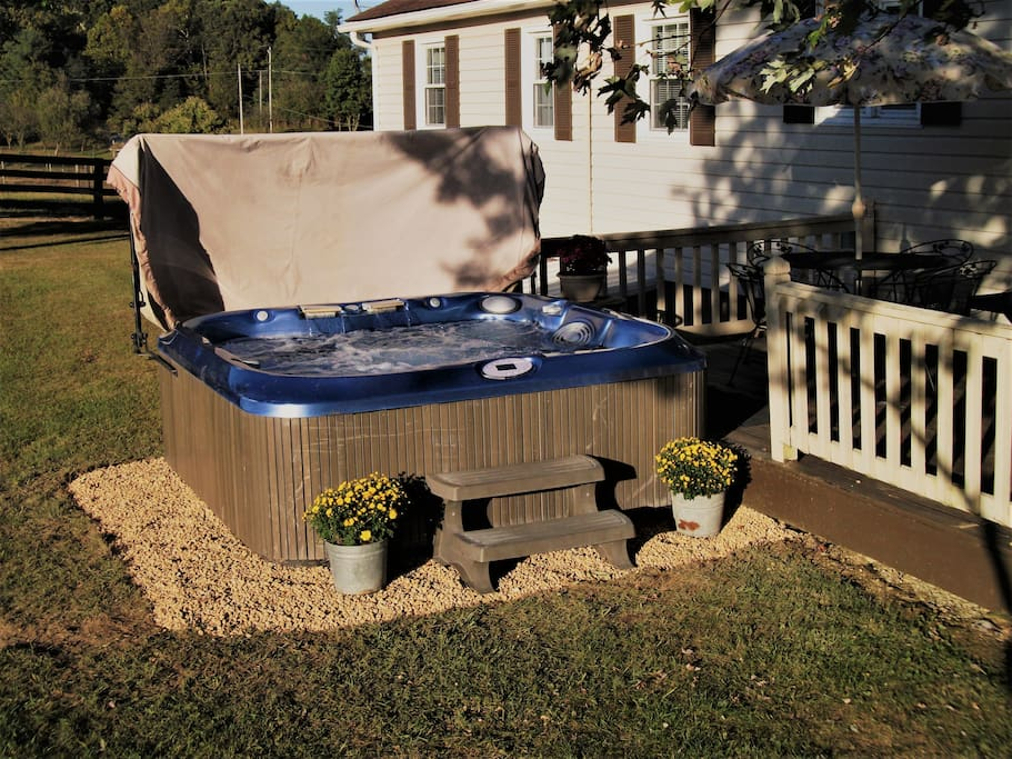 Hot Tub in the Fall afternoon