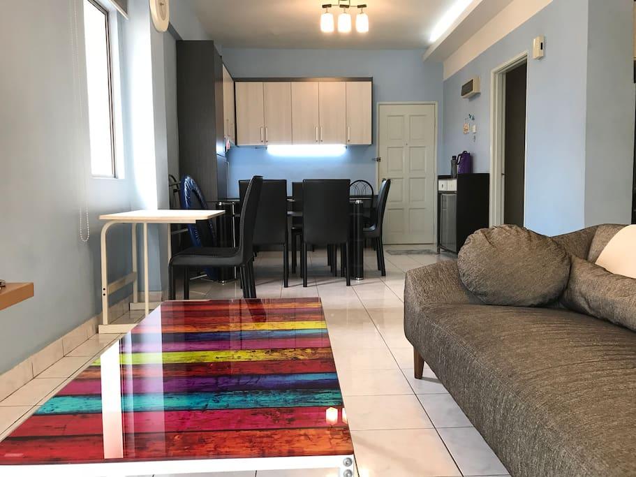 Living Hall with designer sofa