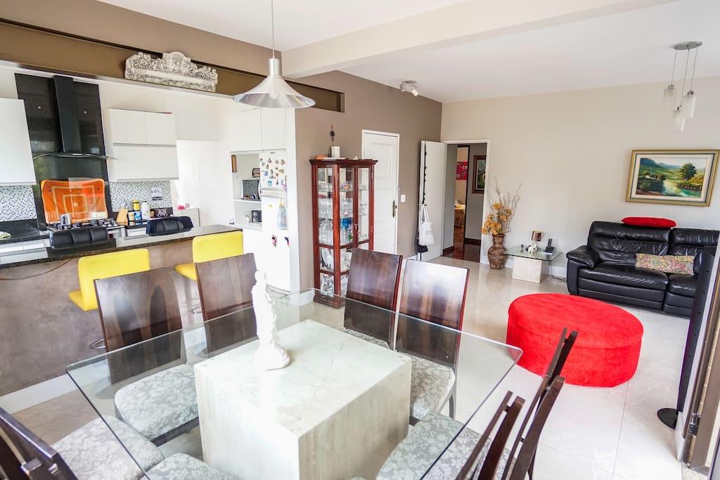 Sala estar/copa/cozinha-área comum