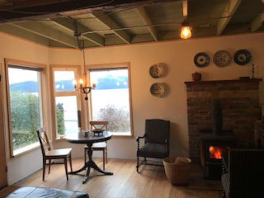 No fireplace but wood stove
