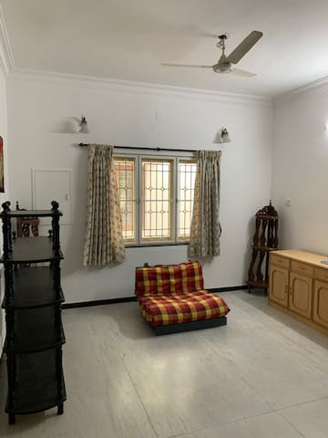 Hall with sofa cum bed
