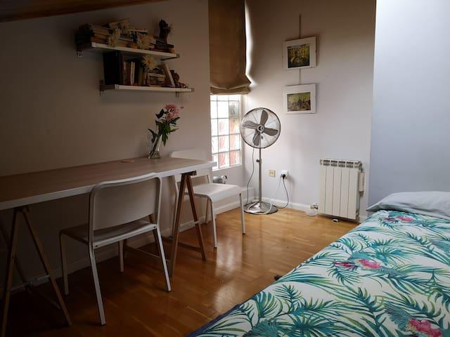 Habitacion doble, en el centro de Zaragoza.