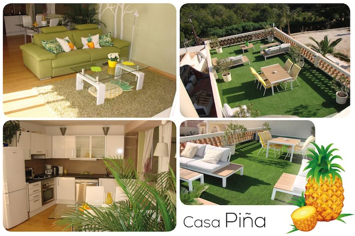 Casa Piña🍍 Unique Romantic❤ Seaview Eco Apartment