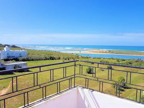 Appartement Oualidia 3 terrasses vue sur la lagune