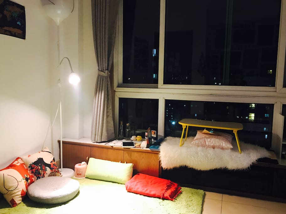 Cozy corner for relaxing.