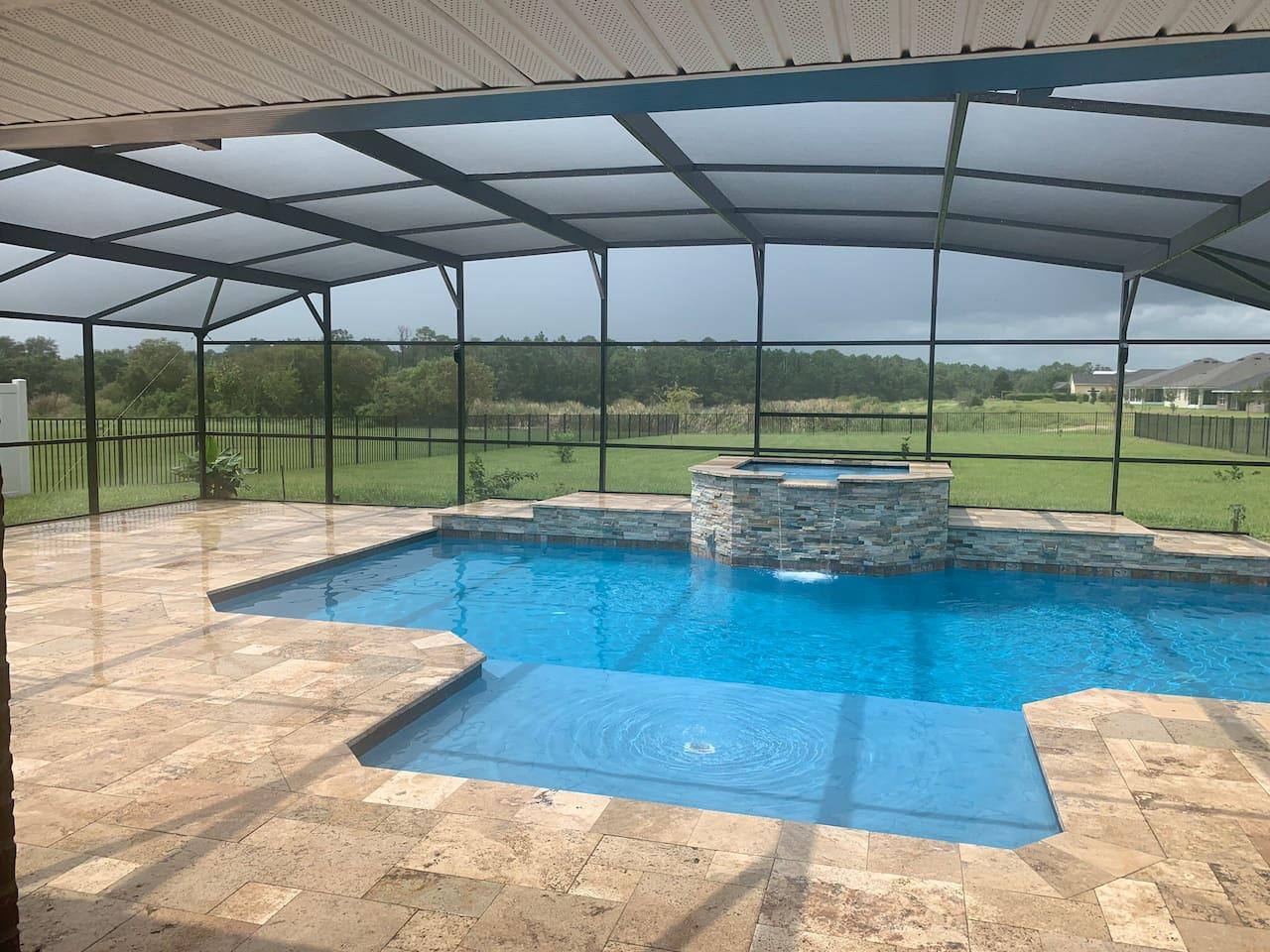 Pool Room and Hot Tub