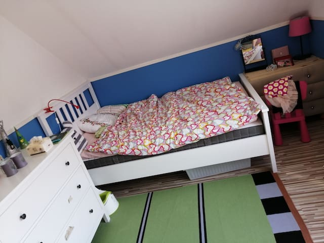 second bedroom with 120cm bed