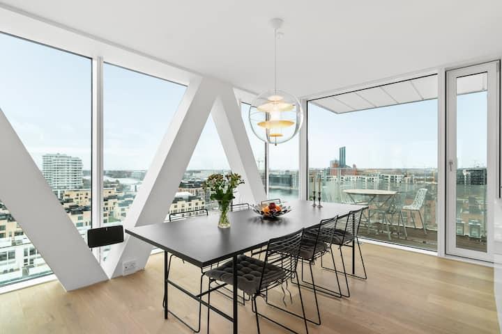 Panoramic and Trendy Apartment in Copenhagen City