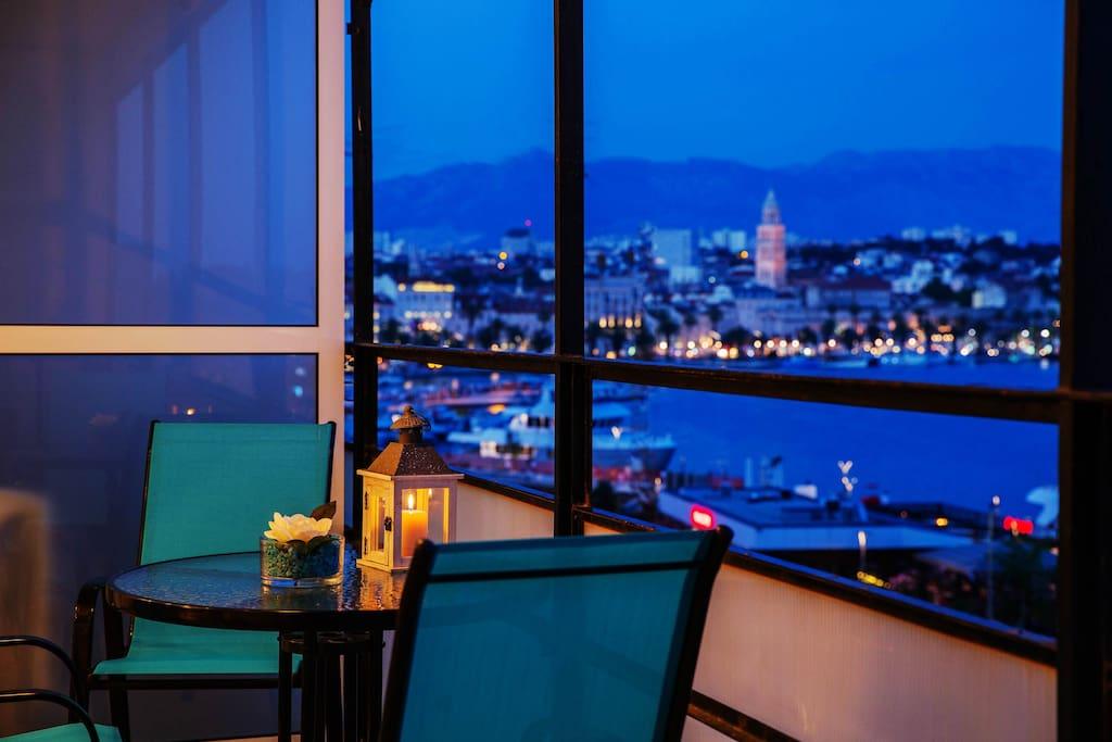 Breathtaking view from balcony