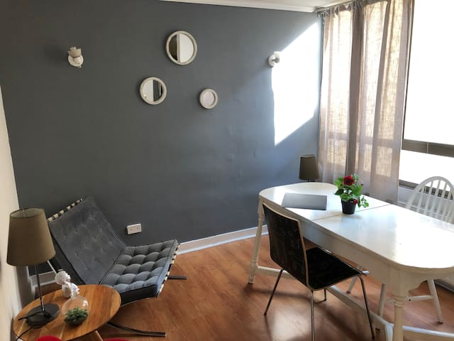 Bright, quiet apartment in the heart of Lastarria