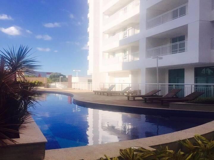 Apartamento mobiliado em Manaus no Centro Novinho