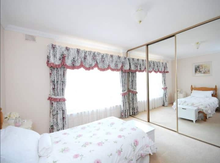 Cosy bedroom in suburban adelaide