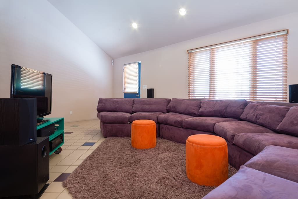 Living Room with TV and Sound System