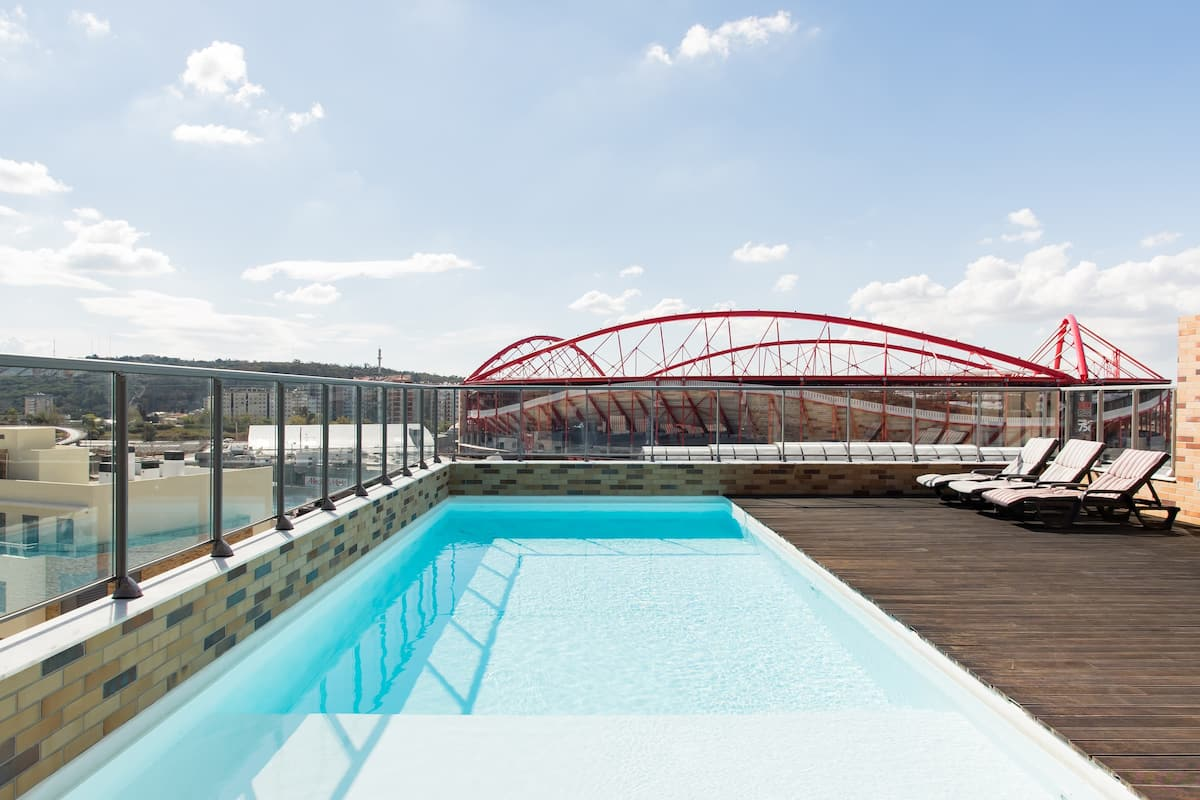 Overlook Benfica's Stylish Stadium at a Chic, Airy Retreat