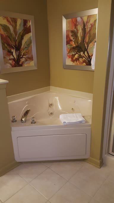 Jacuzzi with separate shower