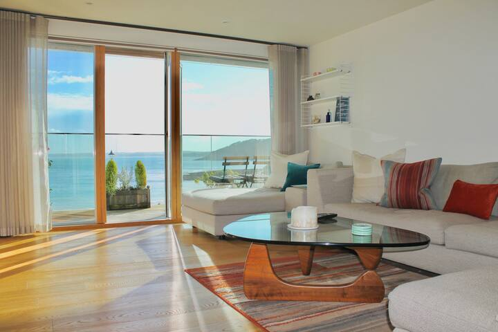 Falmouth's beachfront gem with panoramic views.