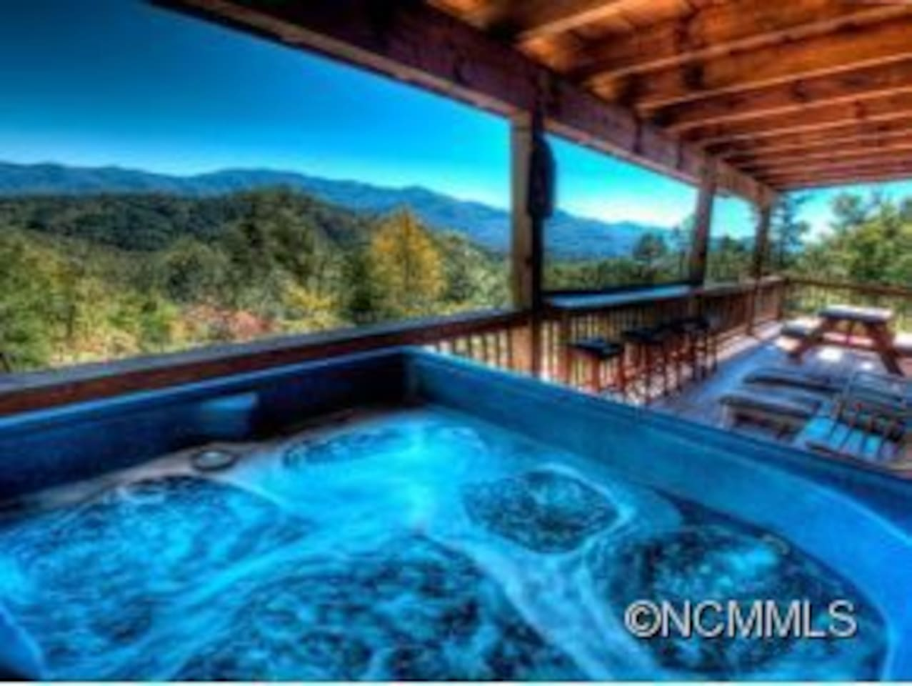 Enjoy the fabulous view from the hot tub