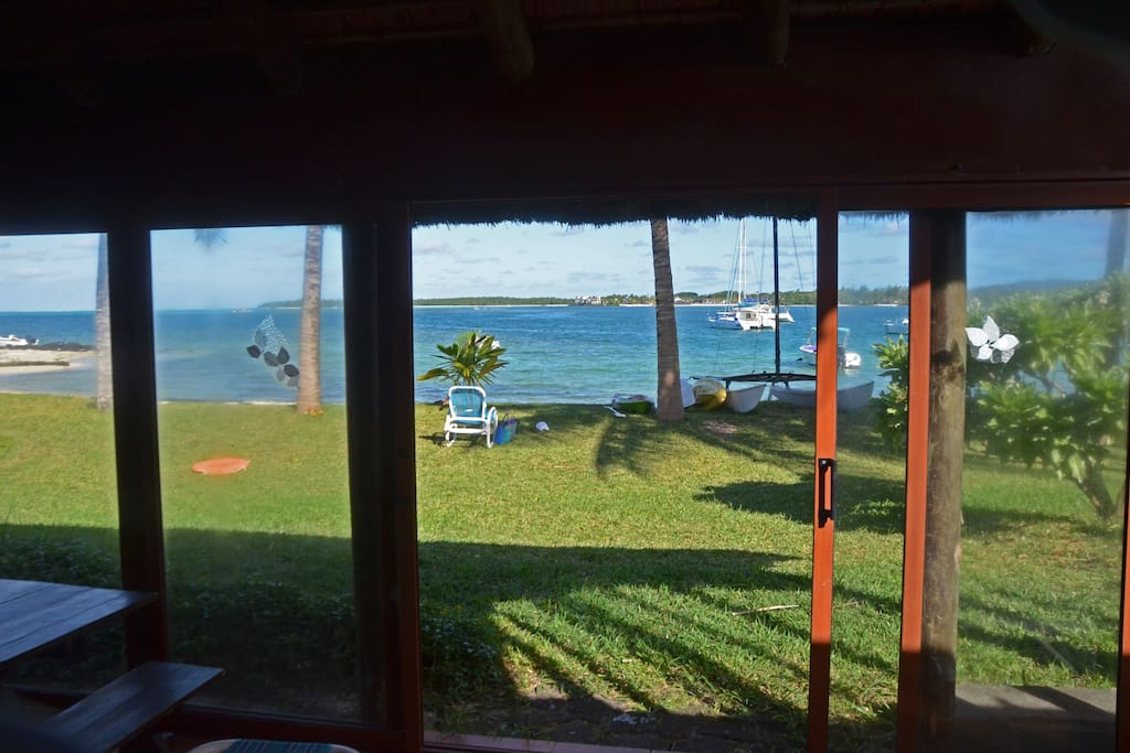 The sea viewed from the verandah