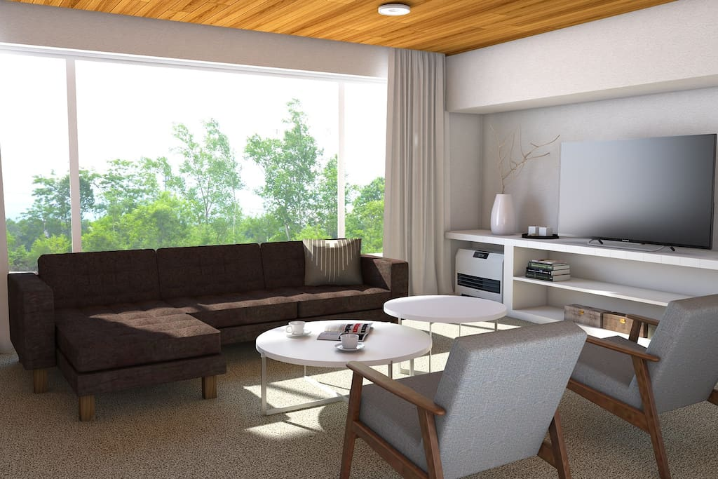 CGI of living room post renovation due for completion Dec 2017
