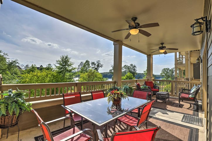 Talladega Area Condo w/ Lake Views & Pool!